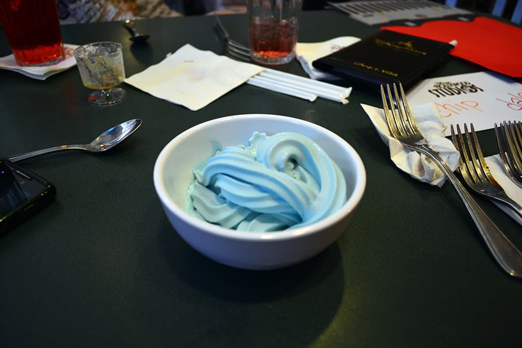 Blue Ice Cream Jedi Mickey Star Wars Diner at Hollywood and Vine in Disney Hollywood Studios