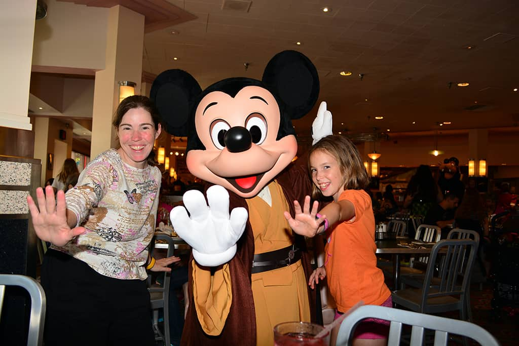 Jedi Mickey at Jedi Mickey Star Wars Diner at Hollywood and Vine in Disney Hollywood Studios