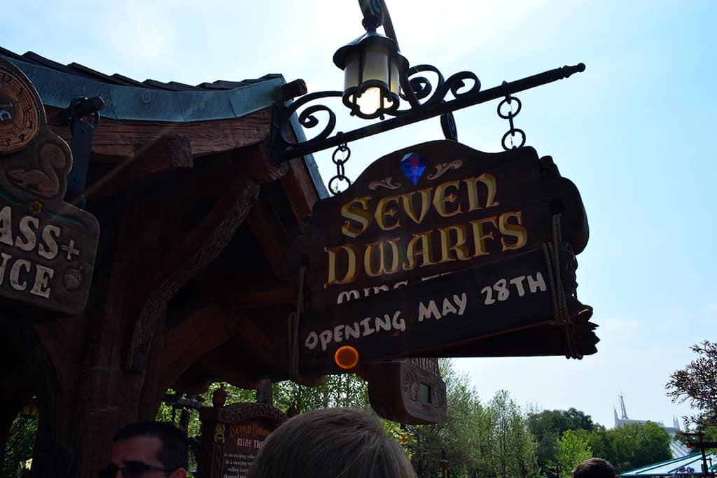 Seven Dwarfs Mine Train Signage