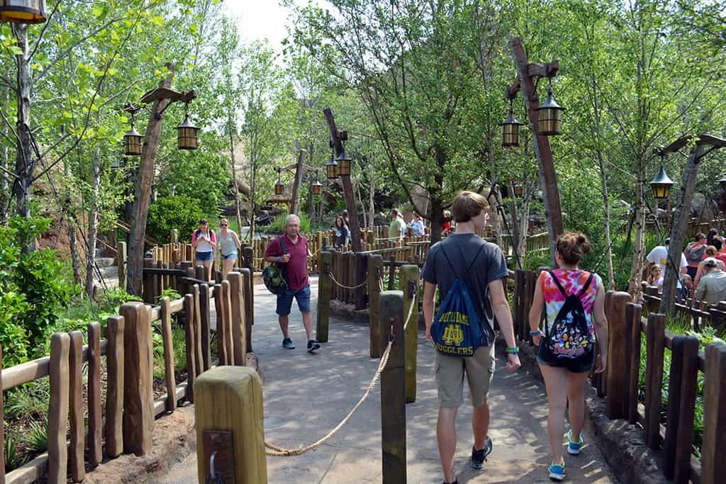 Seven Dwarfs Mine Train queue