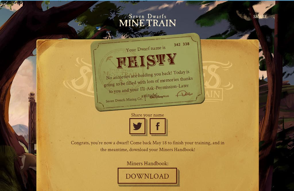 seven dwarfs mine train dwarf name feisty