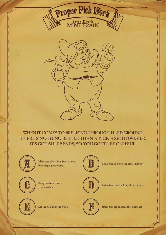 Seven Dwarfs Mine Train Miners Guide page 2