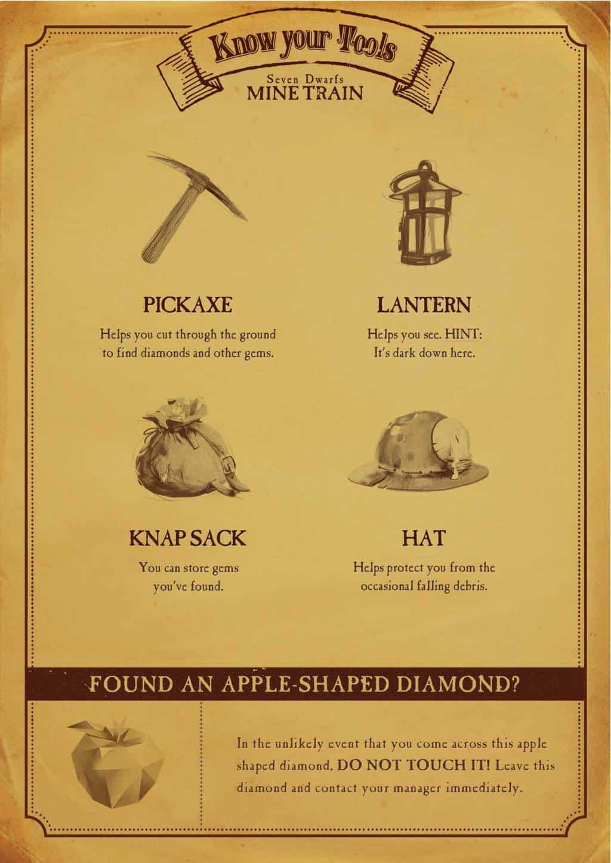 Seven Dwarfs Mine Train Miners Guide page 1