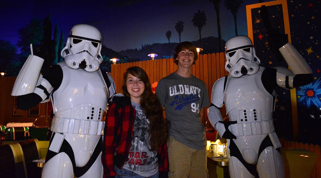 Stormtroopers at Star Wars Galactic Dine-in Character Breakfast at Hollywood Studios