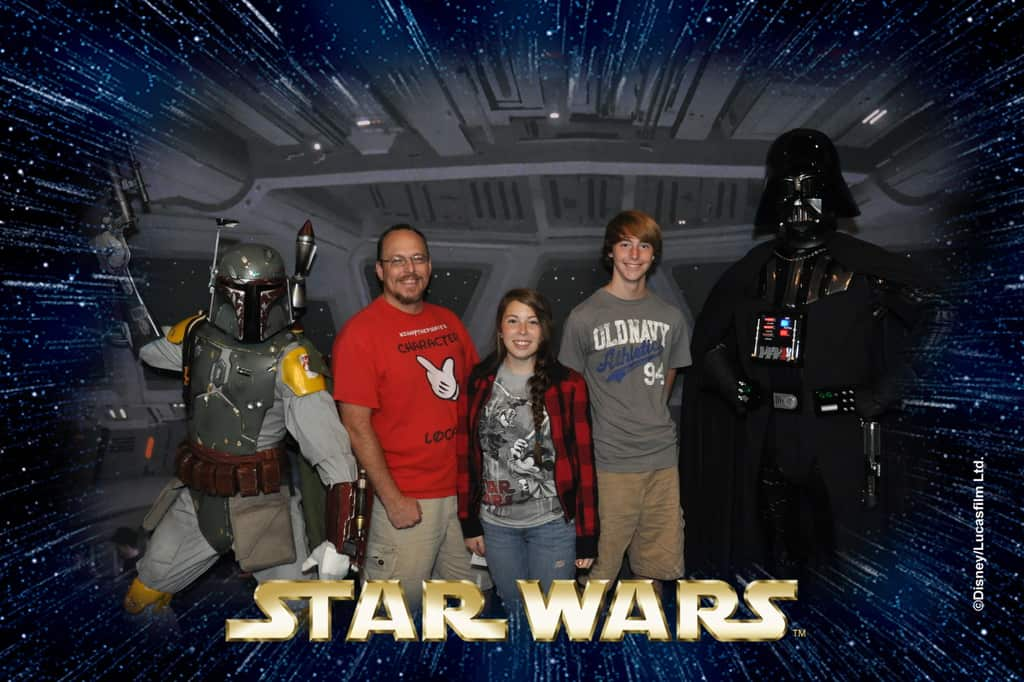 Boba Fett and Darth Vader Star Wars Weekends Photopass (1)