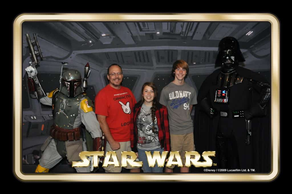 Boba Fett and Darth Vader Star Wars Weekends Photopass (3)