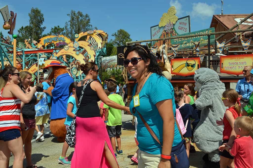 Smiles at Animal Kingdom Dinoland Dance a Palooza dance party