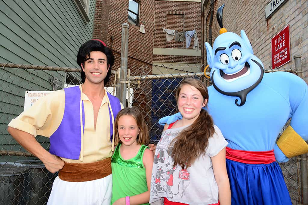 Aladdin and Genie at Character Palooza at Hollywood Studios
