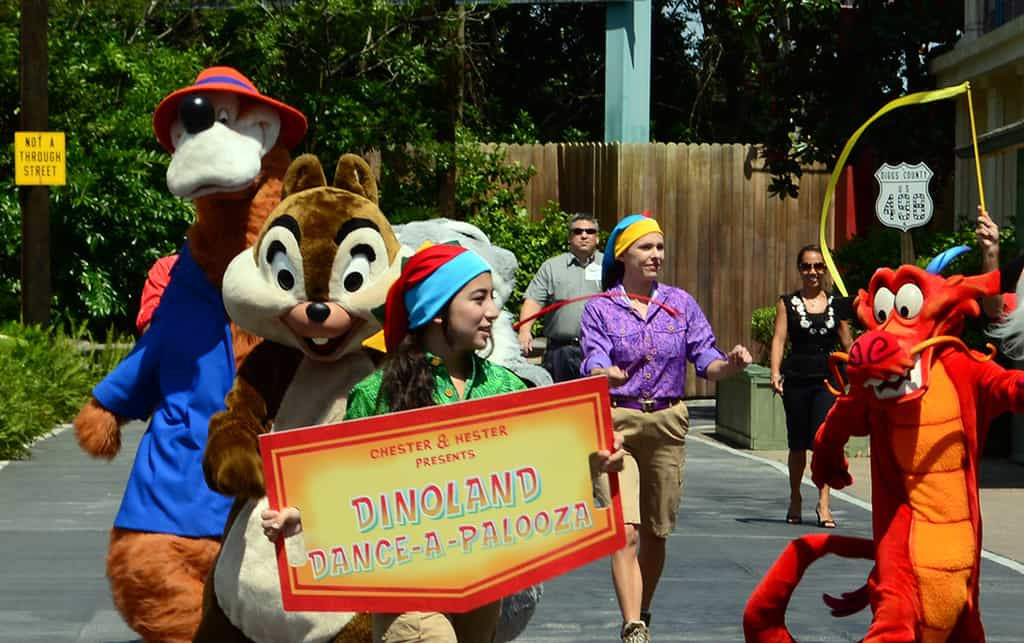 2014 Animal Kingdom Dinoland Dance a Palooza dance party