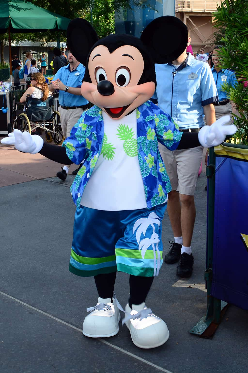 Mickey Mouse at Rock your summer side dance party at Hollywood Studios June 2014