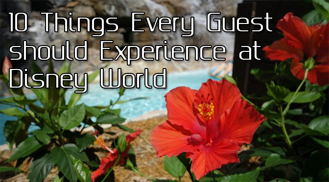 Top Ten Things Every Guest Should Experience at Walt Disney World