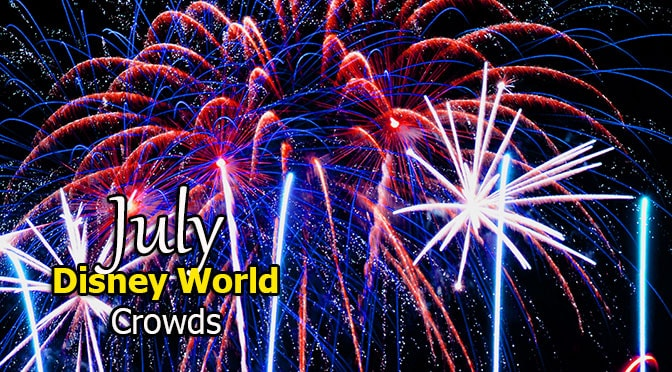 Disney World Crowd Calendar July 2019