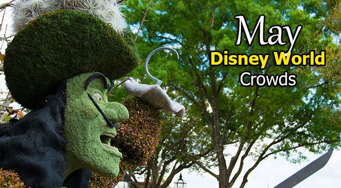 May 2019 Disney World Crowd Calendar with Extra Magic Hours created