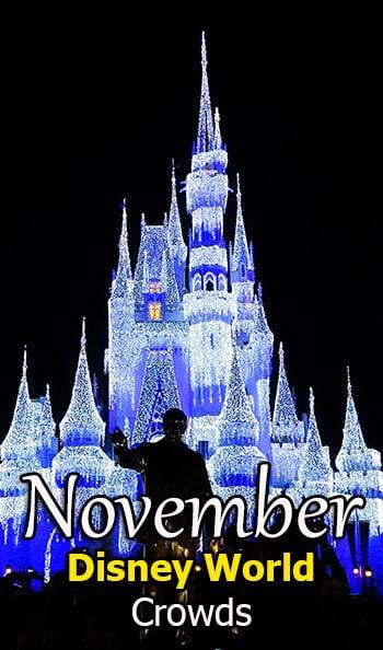 Disney World Crowd Calendar November 2018
