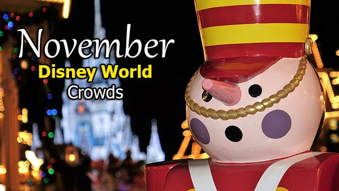 Disney World Crowd Calendar November 2020
