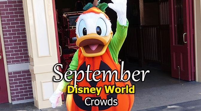 September 2018 Disney World park hours, Extra Magic Hours and Crowd Calendar released