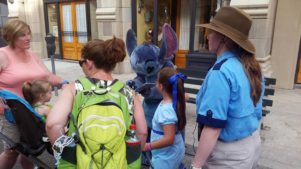 Character Palooza on New York Street in Hollywood Studios in Disney World Stitch