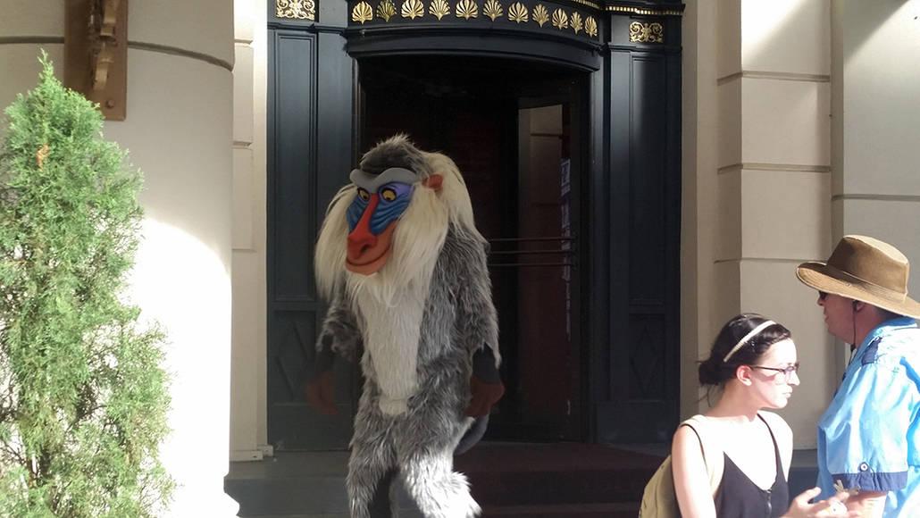 Character Palooza on New York Street in Hollywood Studios in Disney World Rafiki