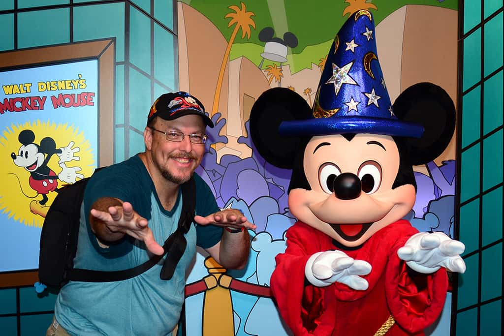 2014 Disney's Hollywood Studios meet and greet Sorcerer Mickey