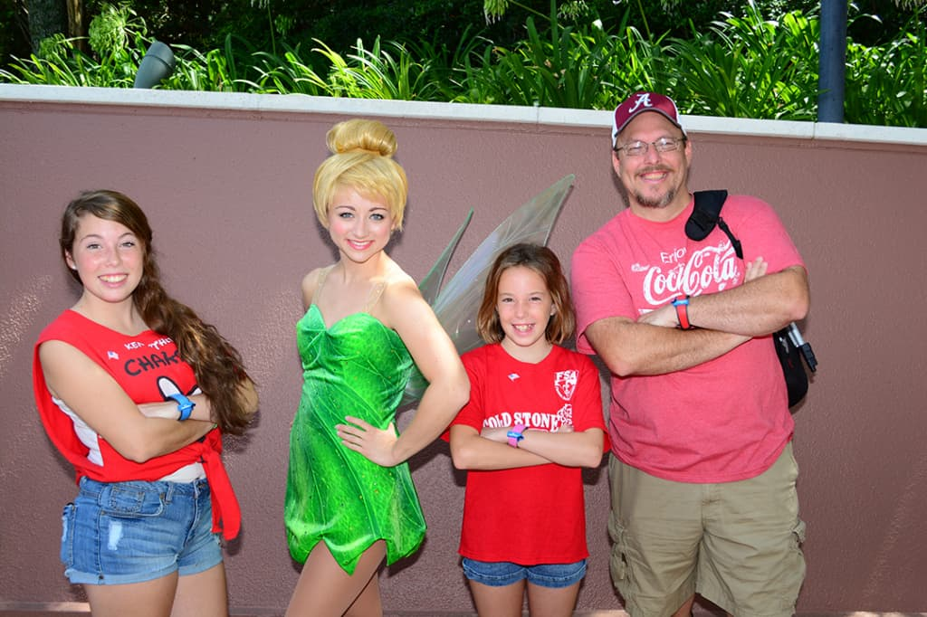 Tinker Bell meet and greet at Epcot Training