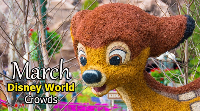 March 2020 Disney World Crowd Calendar created