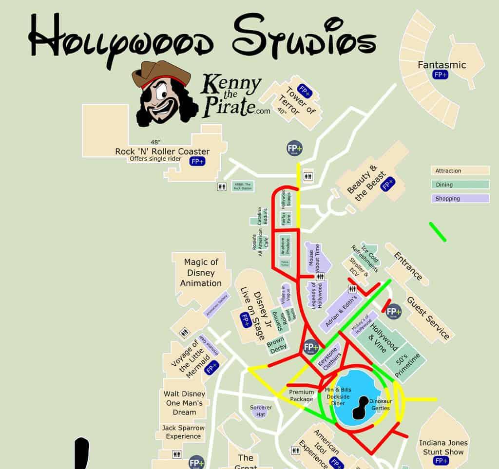 Hollywood Studios  Fireworks Map KennythePirate