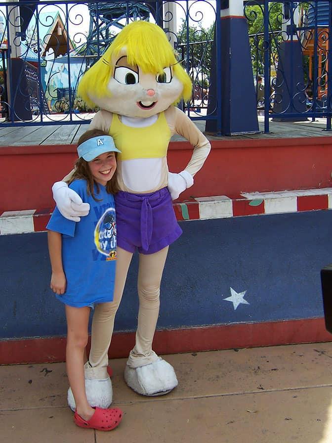 Babs Bunny Six Flags Texas 2007