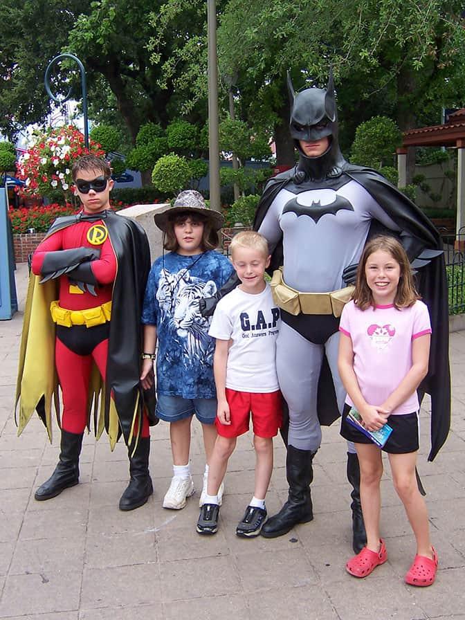 Batman and Robin Six Flags Texas 2007