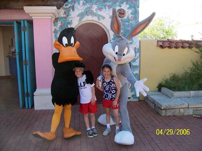 Daffy Duck and Bugs Bunny Six Flags San Antonio 2006