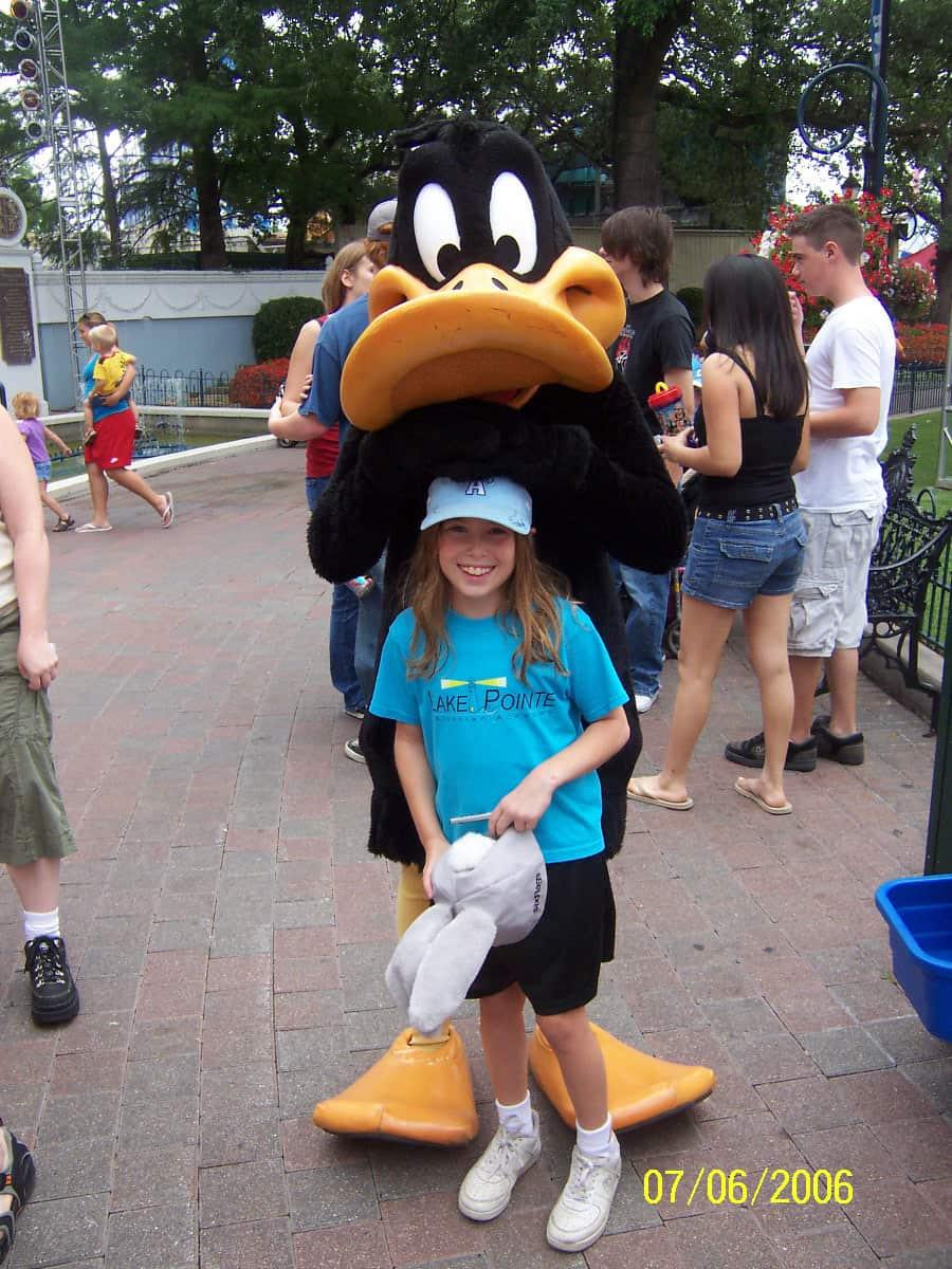 Daffy Duck Six Flags Texas 2006