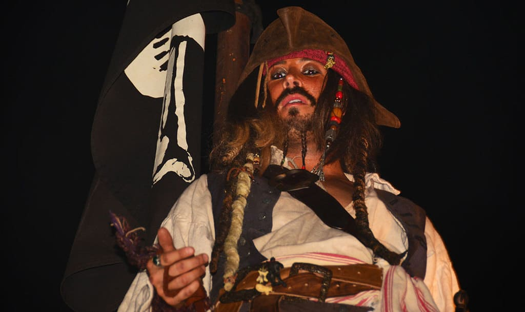 Mickey's Not So Scary Halloween Party 2014 Boo to You Halloween Parade Captain Jack Sparrow