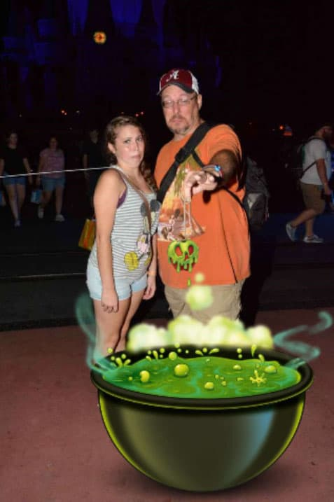 Mickey's Not So Scary Halloween Party Photopass Magic Shot apple