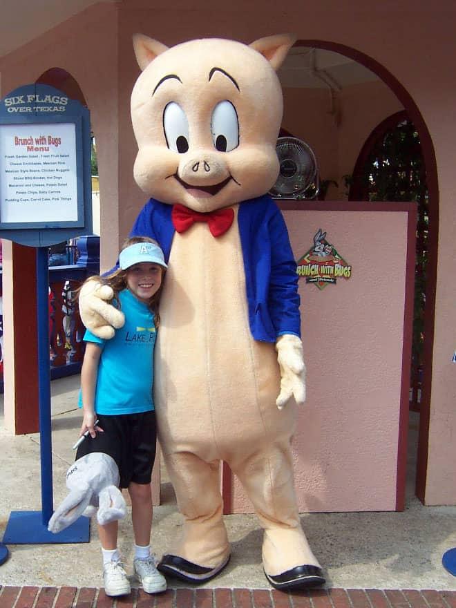 Porky Pig Six Flags Texas 2006