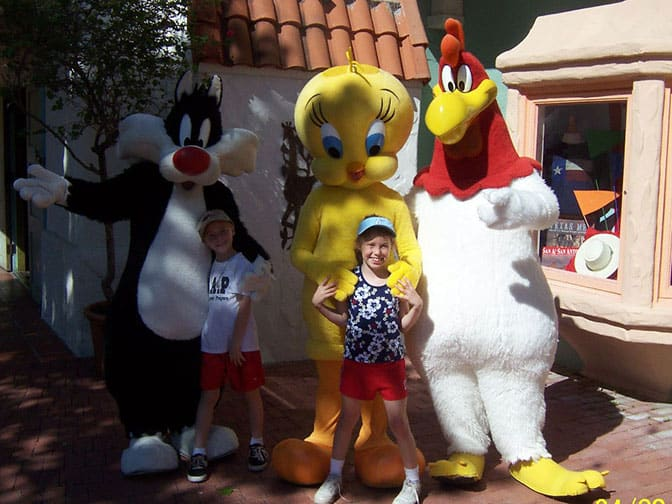 Sylvester Tweety and Foghorn Six Flags San Antonio 2006
