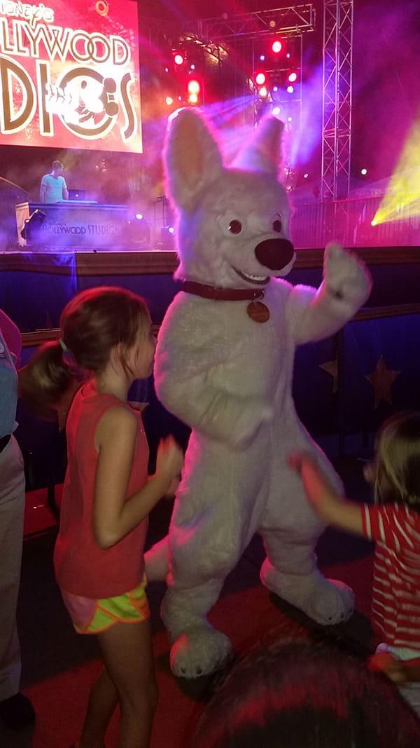 Bolt at Disney Hollywood Studios Dance Party Walt Disney World character meet