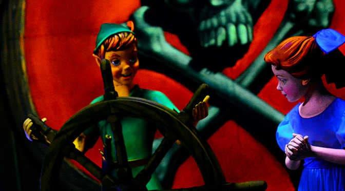Some fun photos from Peter Pan's Flight and taking photos on Disney Dark Rides