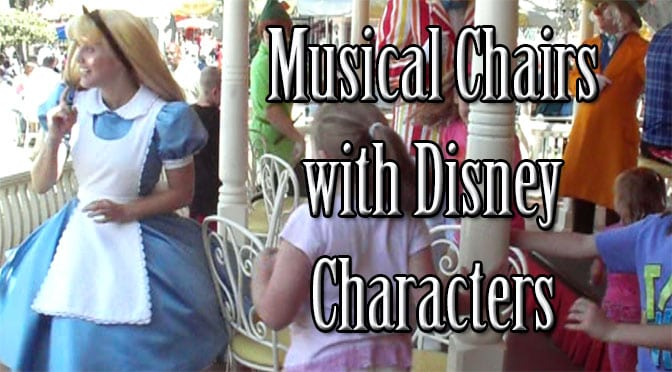musical chairs with Disney characters