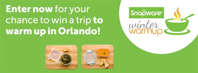 snapware winter warm up orlando sweepstakes