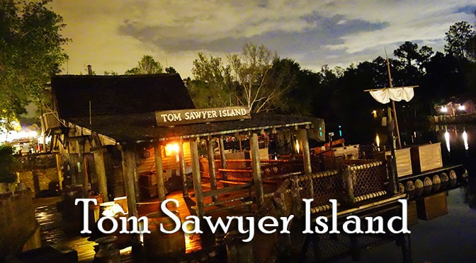 tom sawyer island rafts frontierland magic kingdom walt disney world