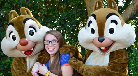 where to meet chip and dale at disney world