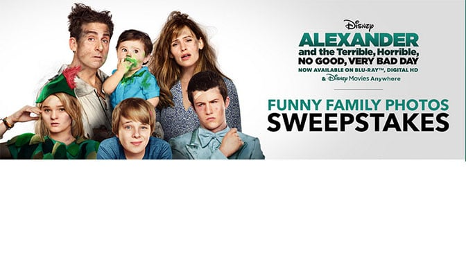 Disney Alexander Funny Family Photo Sweepstakes