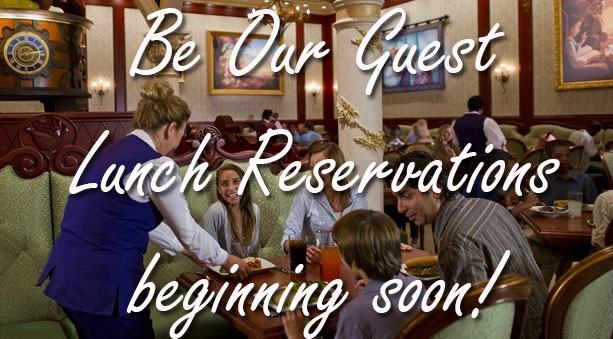 Disney officially confirms Be Our Guest LUNCH reservations