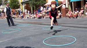 nathan skipping in magic kingdom
