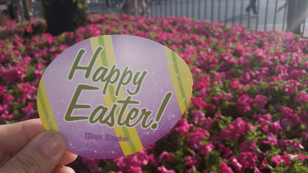 Easter Bunny autograph card at the Magic Kingdom in Disney World