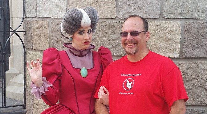 Lady Tremaine meet and greet in the Magic Kingdom at Walt Disney World