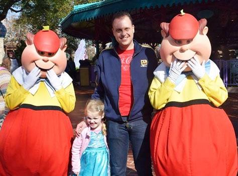 Tweedledee and Tweedledum magic kingdom mad tea party