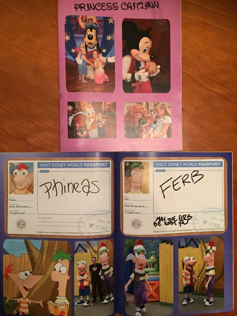 disney world character autograph book