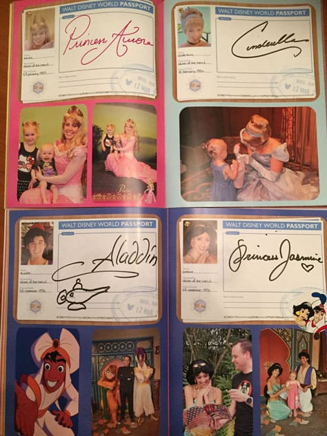 disney world character autograph book2