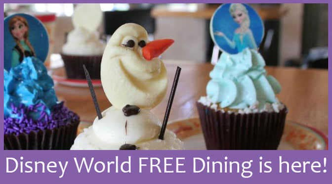 Walt Disney World FREE Dining for fall 2015 is here!