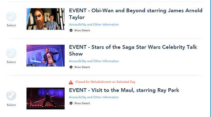 Star Wars Weekends 2015 Show Schedules and who will NOT be signing autographs